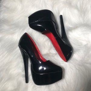 "Ellie Patent Classic Heels 652-prince 6.5"" H"